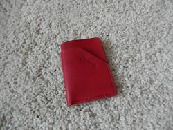 Korttikotelo mini, värjätty punainen/natural