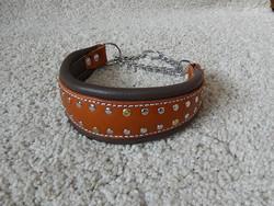 Puolikuristava kaulapanta konjakki/ruskea