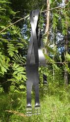 Letitetty nahkainen satulavyö 135cm