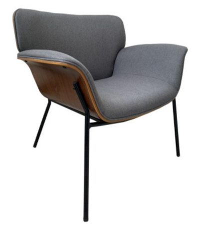 Fabric harmaa nojatuoli