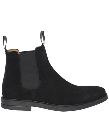 Chelsea Suede Boot, Black