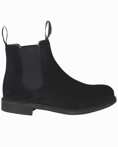 W´s Chelsea Suede Boot, Black