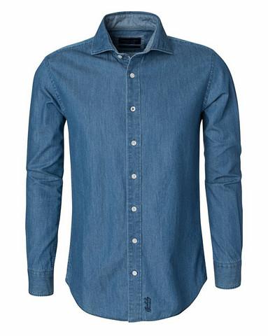 Dover Denim Shirt, Mid Blue