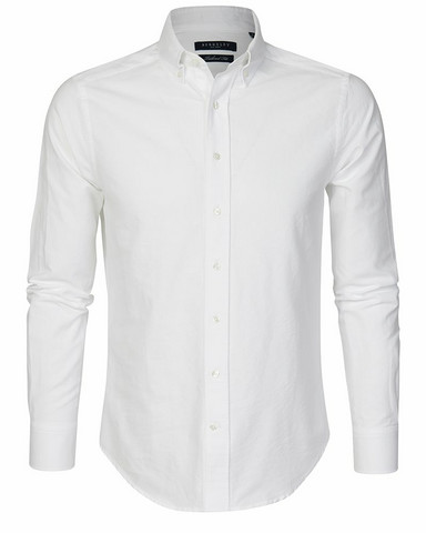 Porto Oxford Tailored Shirt, white