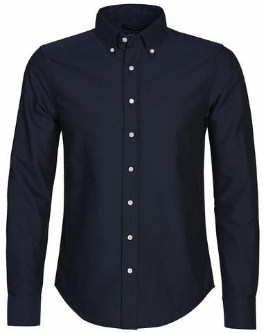 Porto Oxford Tailored Shirt, navy