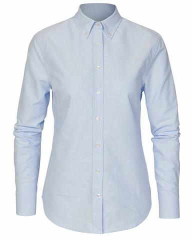 W's Porto Oxford Tailored Shirt, Lt.Blue