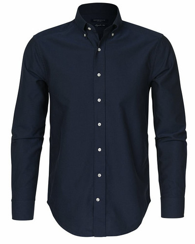 Porto Oxford Regular Shirt, Navy