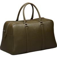 Varese Overnighter Bag -nahkalaukku, Military green