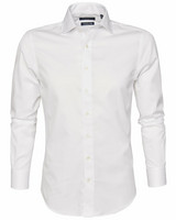 Plainton Non-Iron kauluspaita, Regular Fit, white