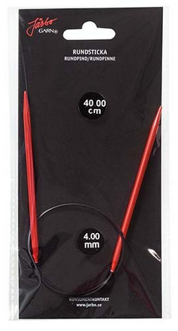Röd pyöröpuikot 40 cm, Järbo.