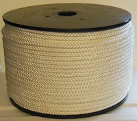 Punottu polyesteri Ø 6 mm (n. 117 m/rll), valkoinen