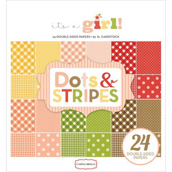 Carta bella paperilehtiö Dots & Stripes I´s a girl