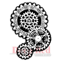 Deep red leimasin Steampunk Gears