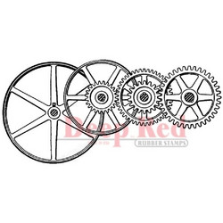 Deep red leimasin Gears & Pulleys