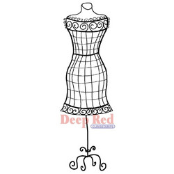 Deep red leimasin Dress form wire frame