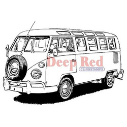 Deep red leimasin VW Bus