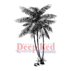 Deep red leimasin palmut Coconut Palms