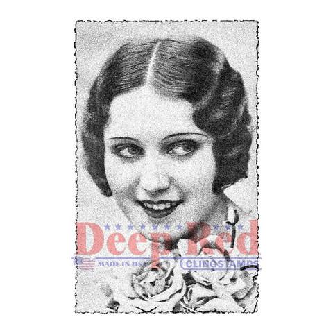 Deep red leimasin nainen Vintage Glamour