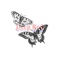 Deep red leimasin perhoset Butterfly Pair
