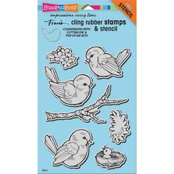 Stampendous leimasin linnut Jumbo Spring Tweets