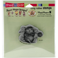 Stampendous House mouse leimasin Chive Chewing