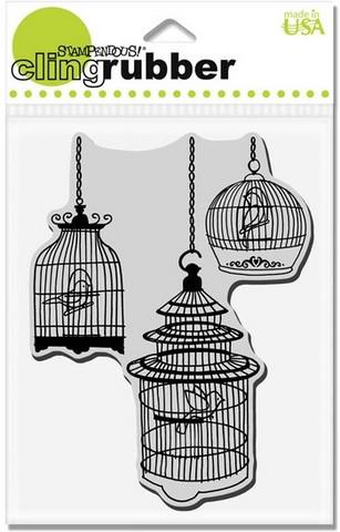 Stampendous leimasin lintuhäkit Bird Cage Trio