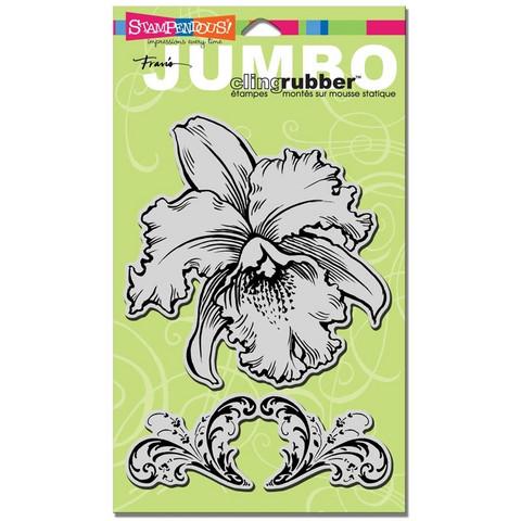 Stampendous leimasin orkidea Jumbo Orchid