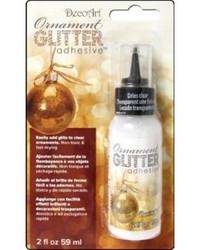 Decoart ornament glitter adhesive liimapullo