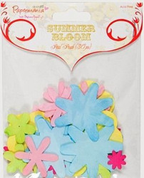 Papermania Summer Bloom paperikukat 30kpl