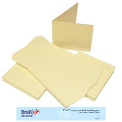 Craft UK Neliökorttipohjat ja kirjekuoret 5x5 50kpl LUUNVAALEA