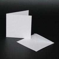 Craft UK Neliökorttipohjat ja kirjekuoret 6x6 50kpl VALKOINEN