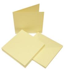 Craft UK Neliökorttipohjat ja kirjekuoret 6x6 50kpl LUUNVAALEA