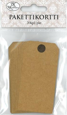 JK pakettikortti 4x8cm 20kpl Kraft uusio