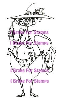 I Brake for stamps leimasin Bikini Blanch