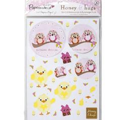 Honey & Hugs 3d-kuva ja taustapaperipakkaus