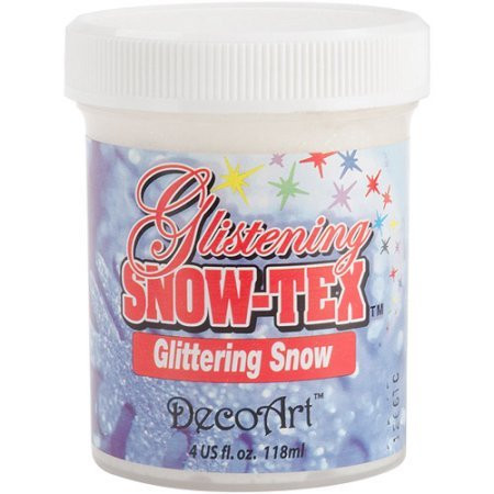 DecoArt Glistening Snowtex kimallelumipurkki 118ml