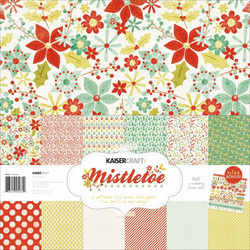 KaiserCraft paperisetti Mistletoe 12x12