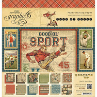 Graphic45 paperilehtiö Good ol Sport 12x12
