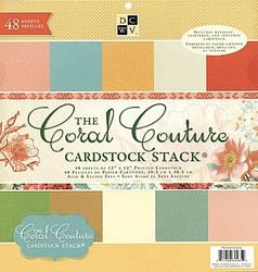 DCWV:n paperilehtiö The Coral Couture Cardstock stack 12x12