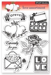 Penny Black leimasinsetti love assortment