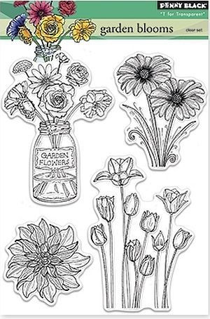 Penny Black leimasinsetti Garden Blooms