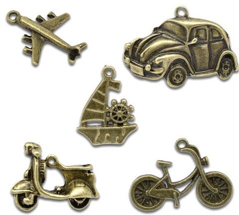 Riipuslajitelma auto, skootteri, lentokone 5kpl