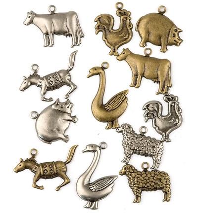 Metallikoristeet maatilaneläimet