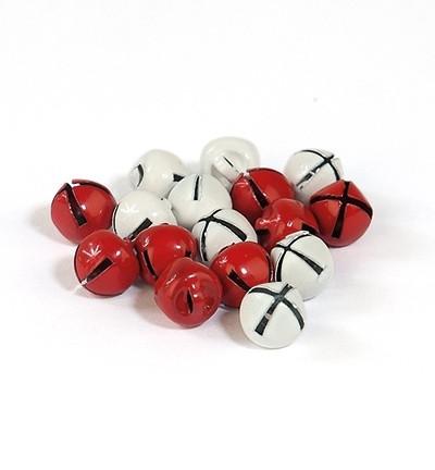 Kulkuset punainen/valkoinen 8mm/16kpl