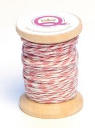Q&Co leipurinnyörirulla vaaleanpunainen-valkoinen