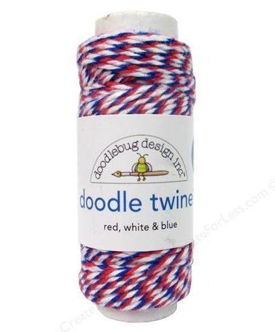 Doodle twine leipurinnyöri red, white & blue