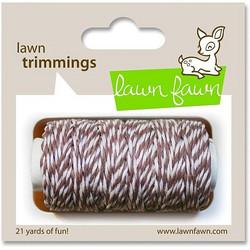 Lawn Fawn leipurinnyöri ruskea-valkoinen
