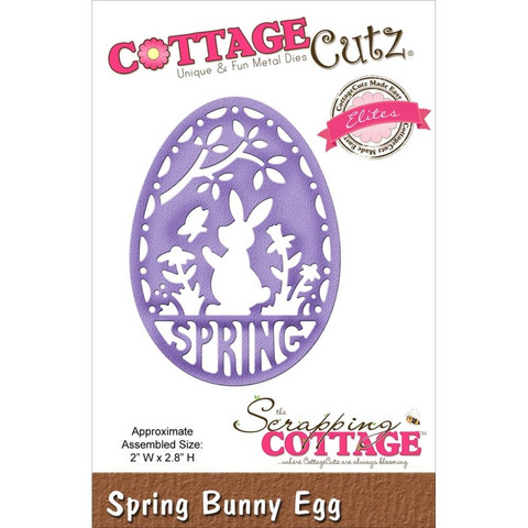 Cottage Cutz stanssi Spring bunny egg