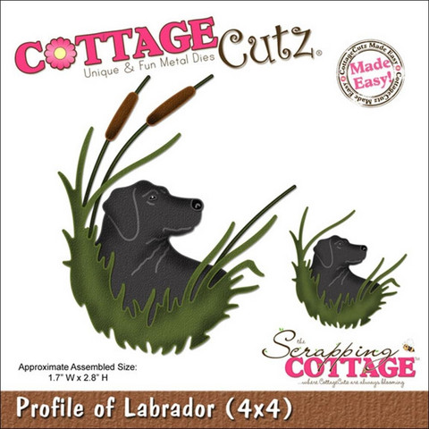 Cottage Cutz stanssi Profile of Labrador koira