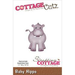 Cottage Cutz stanssi virtahepo baby hippo